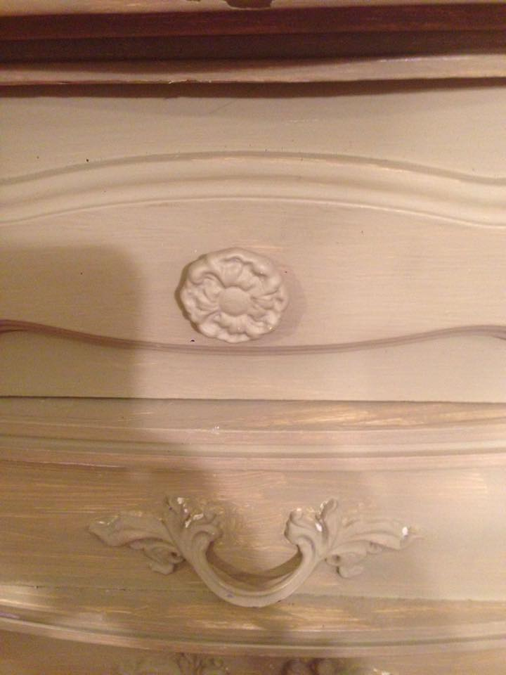 Lingerie Chest Before - Handle Close up