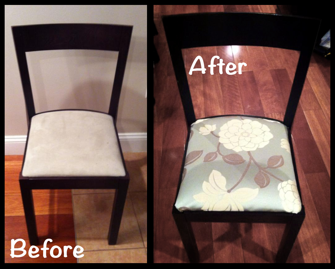 Chair Before and After · 542670_10152330841065393_1622552895_n · 374445_10152330838165393_1001337939_n 554_10152330838620393_2059151470_n & Ikea Chair Redo and No Sew Valance | Keely.com