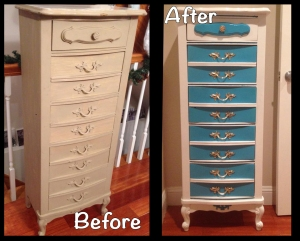 Lingerie Chest Before and After