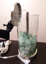 Open lamp with Sea Glass