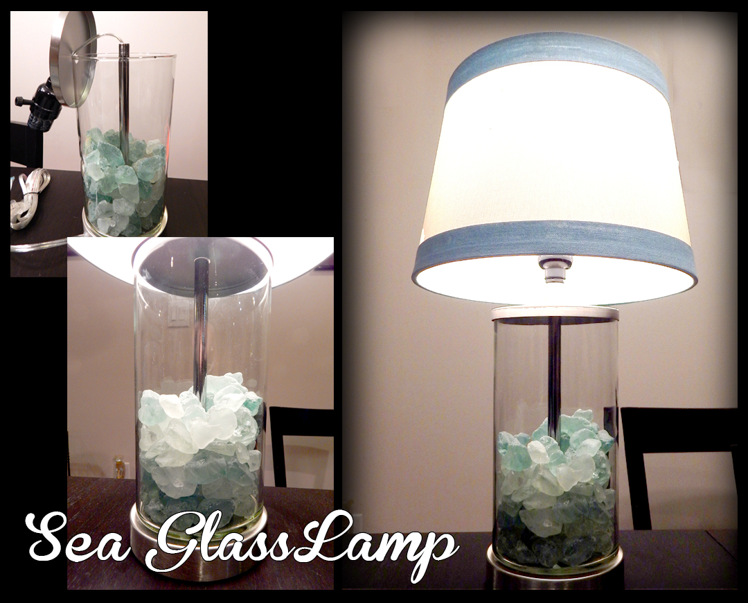 Sea glass lamp keely sea glass lamp mozeypictures Images