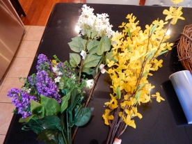 Flowers - one stem of each from the craft store
