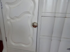Mercury Glass Cabinet Knobs from Home Goods