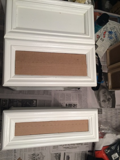 Made a template from cardboard to make sure the drawer inserts would be the right size