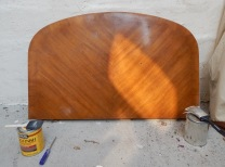 Stained 3 coats - too dark. Ended up sanding down and re-staining.