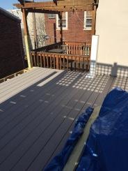 Deck installation in progress